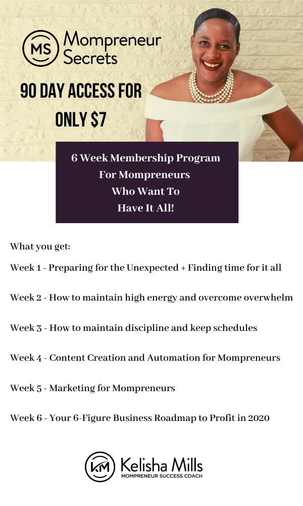 Mompreneur Secrets Membership